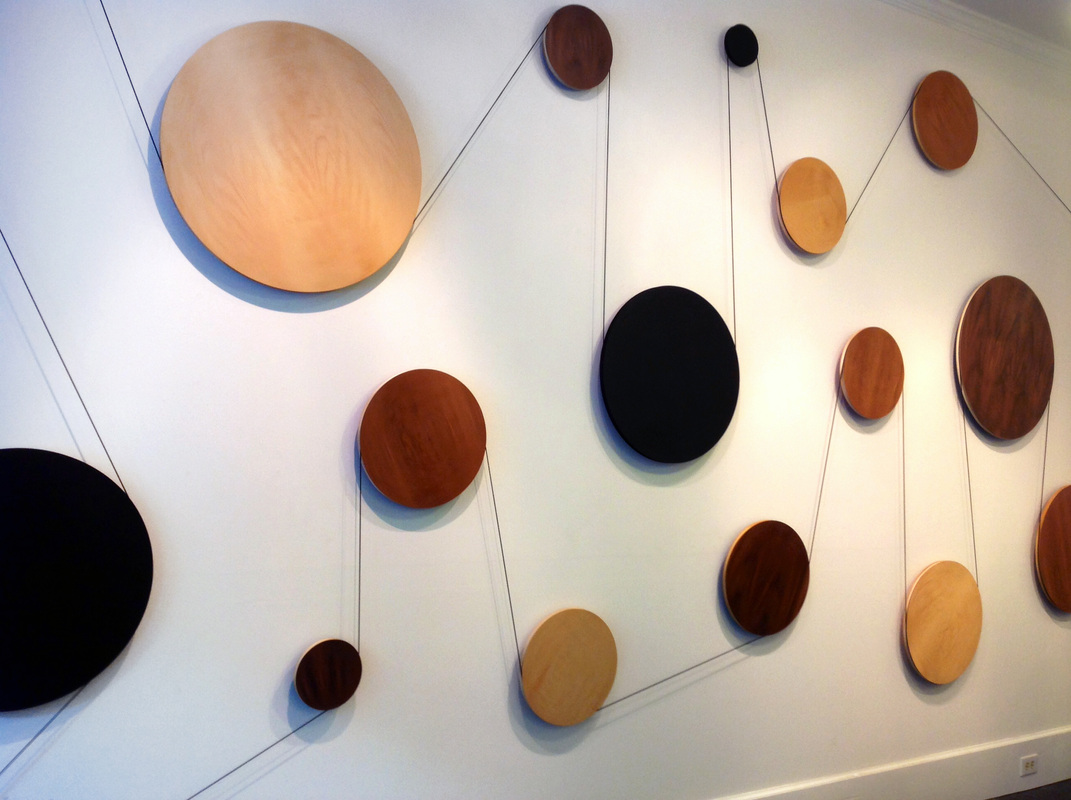 Kinetic wall installation by Jeremy Holmes